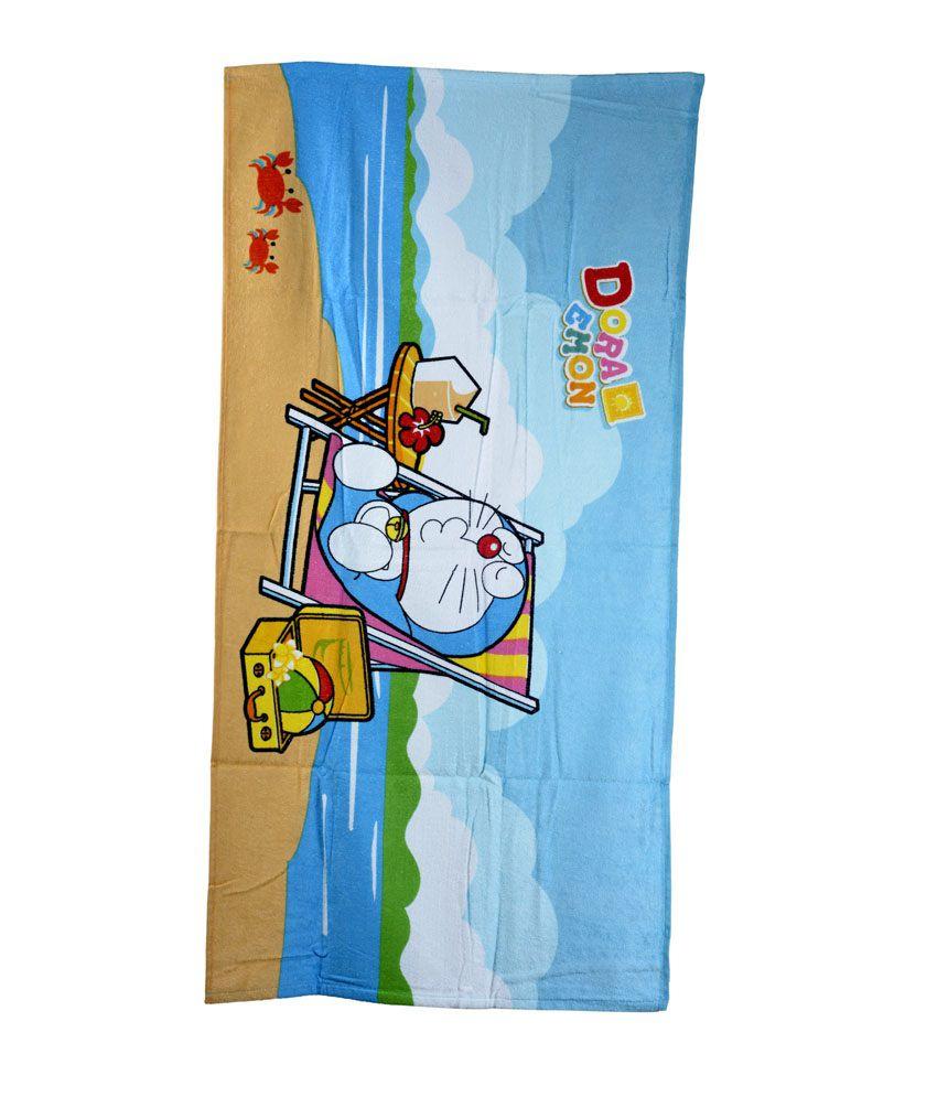 Sassoon Doraemon Multi-colour Cotton Bath Towel