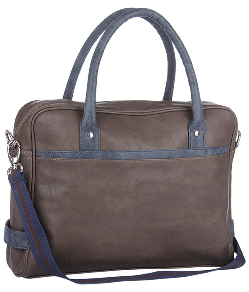 Yelloe Laptop Bag Brown Laptop Bag