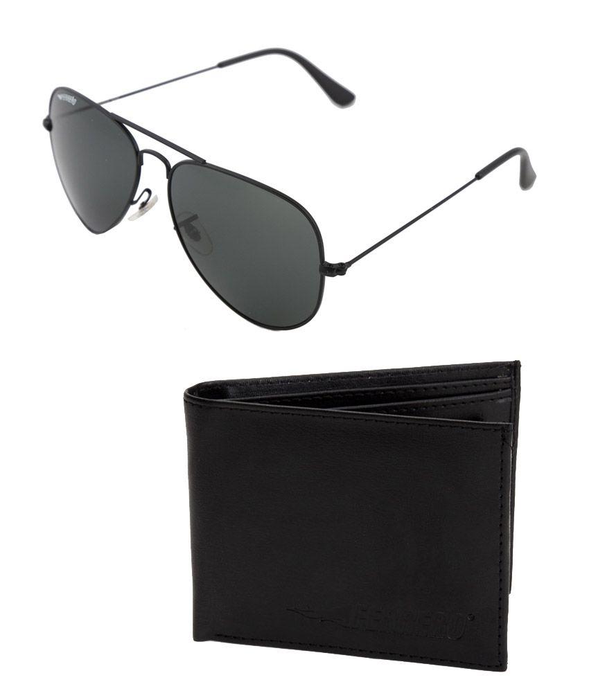 Ferrero FG-3026-BLK&FA-101 Black/Black Aviator Sunglasses
