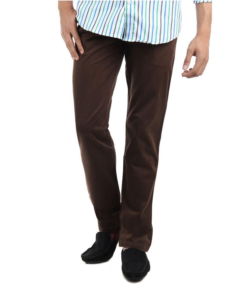 Ghpc Men's 100% Cotton Chino's Trouser(brown), Size: 46