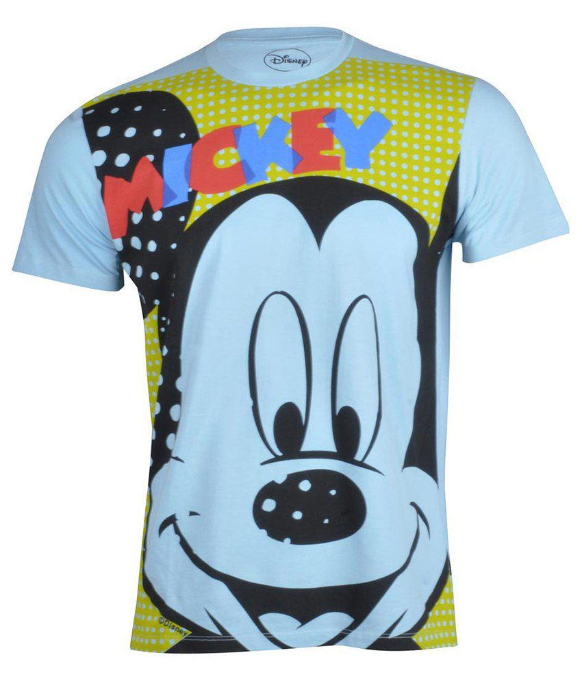 Disney Mickey & Friends Yellow Cotton T-shirt