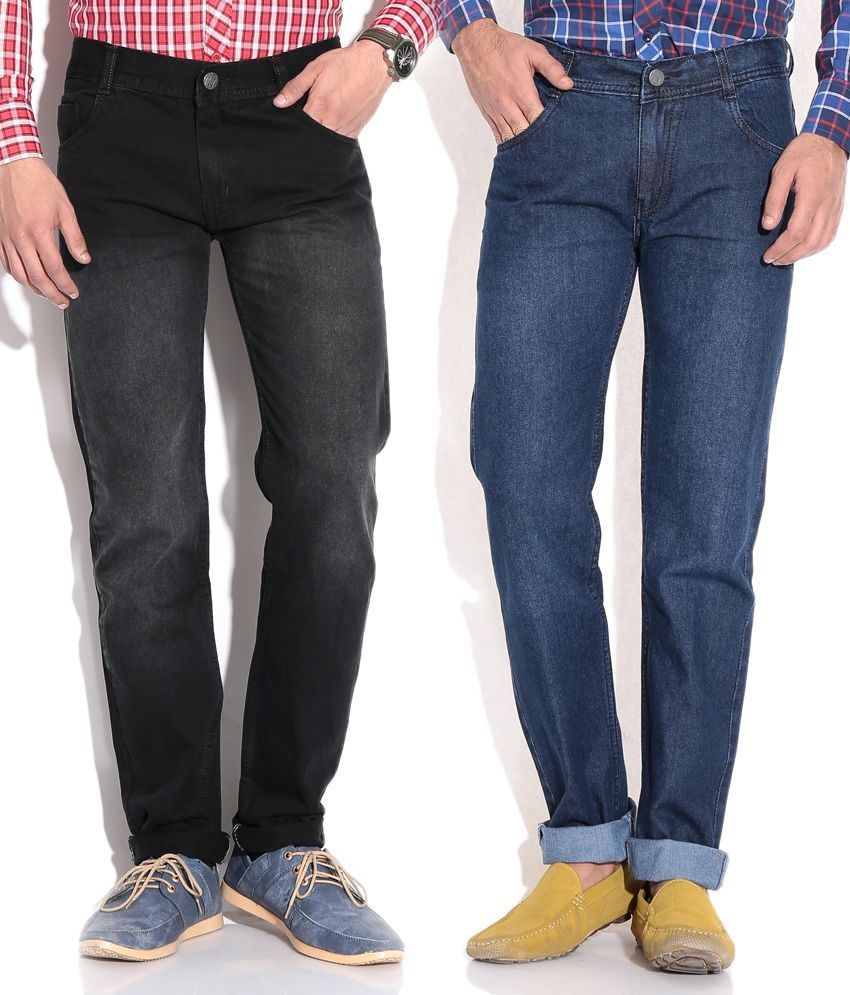 Photon Multi Regular Jeans (combo Of 2)