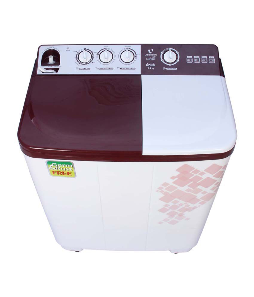 Videocon 7.2 Kg VS72H11 Semi Automatic Top Loading Washing Machine Dark Maroon