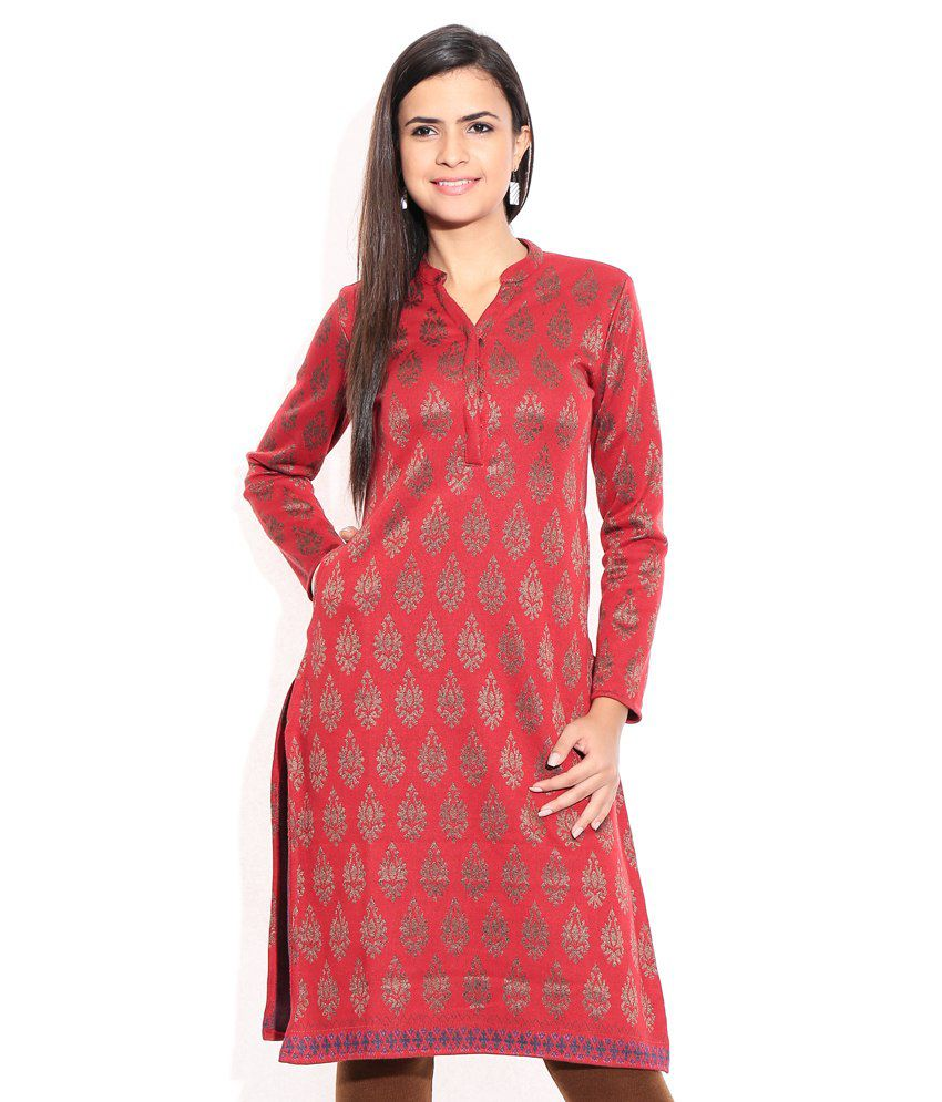 91e1223931 Biba Red Kurti - Buy Biba Red Kurti Online at Best Prices in India on  Snapdeal
