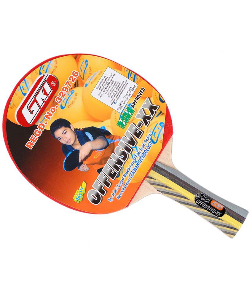 Gki Offensive Xx Table Tennis Racket Buy Online At Best