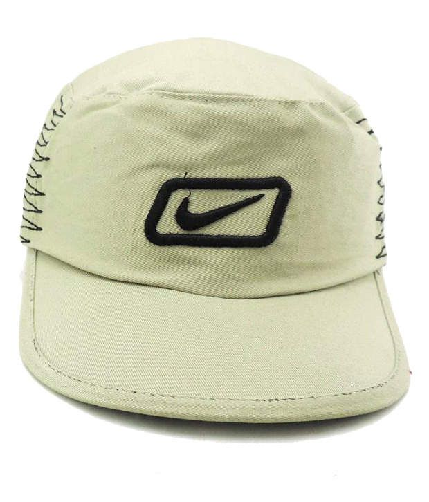 Jstarmart Beige Cotton Baseball Cap Men