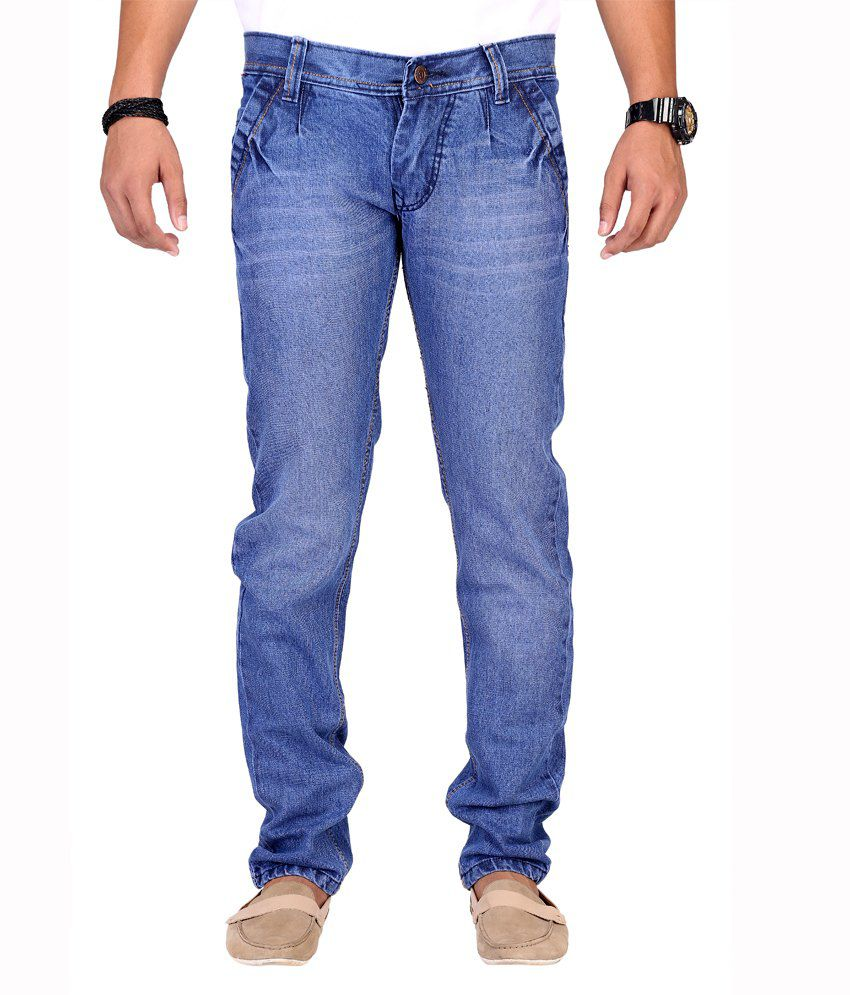 Ansh Fashion Wear Fashion Wear Blue Streachable Jeans