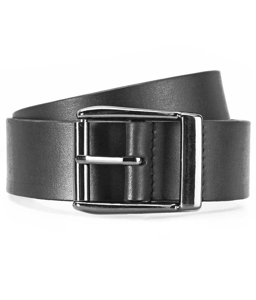 Brune Black Pin Buckle Leather Casual Belt