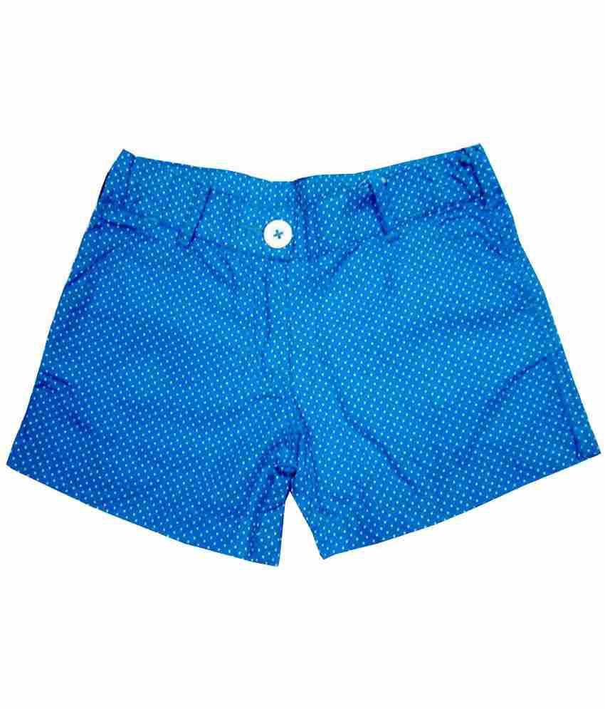 Catapult Girl's Blue Polka Printed Shorts
