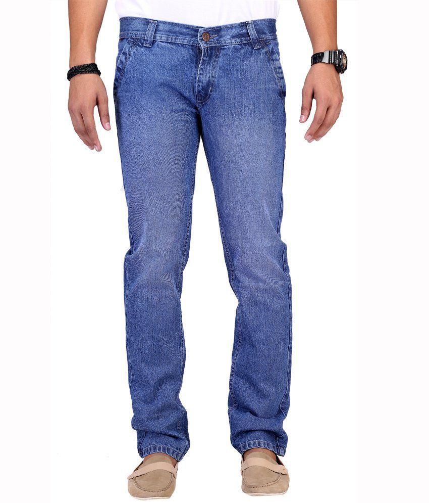 Ansh Fashion Wear Fashion Wear Blue Streachable Jeans