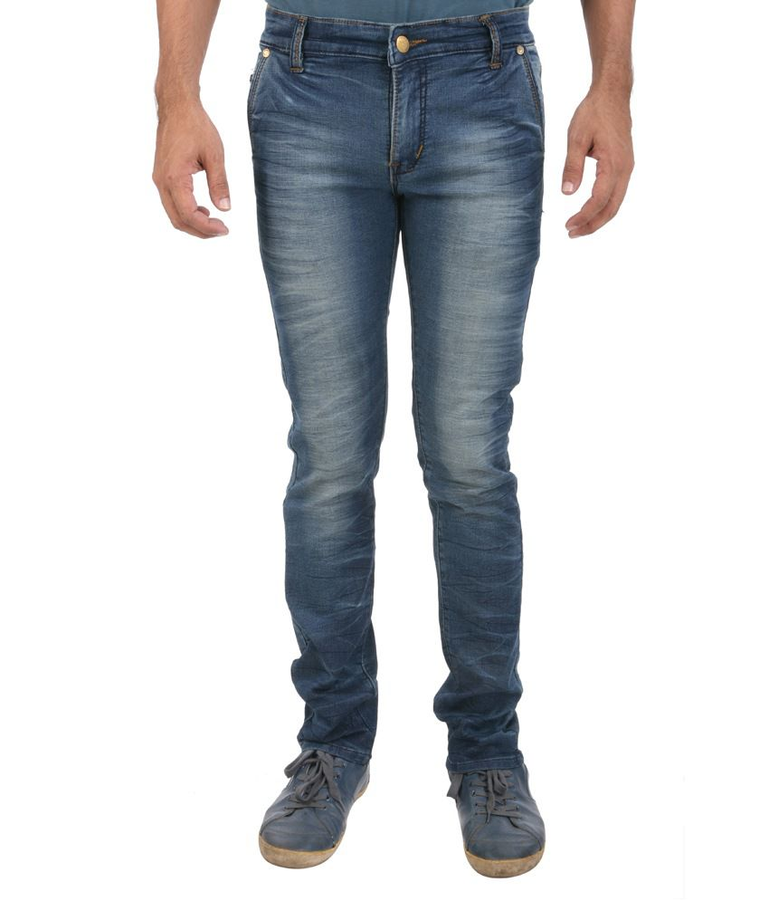 Picador Blue Stlyed Back Pocket Jeans