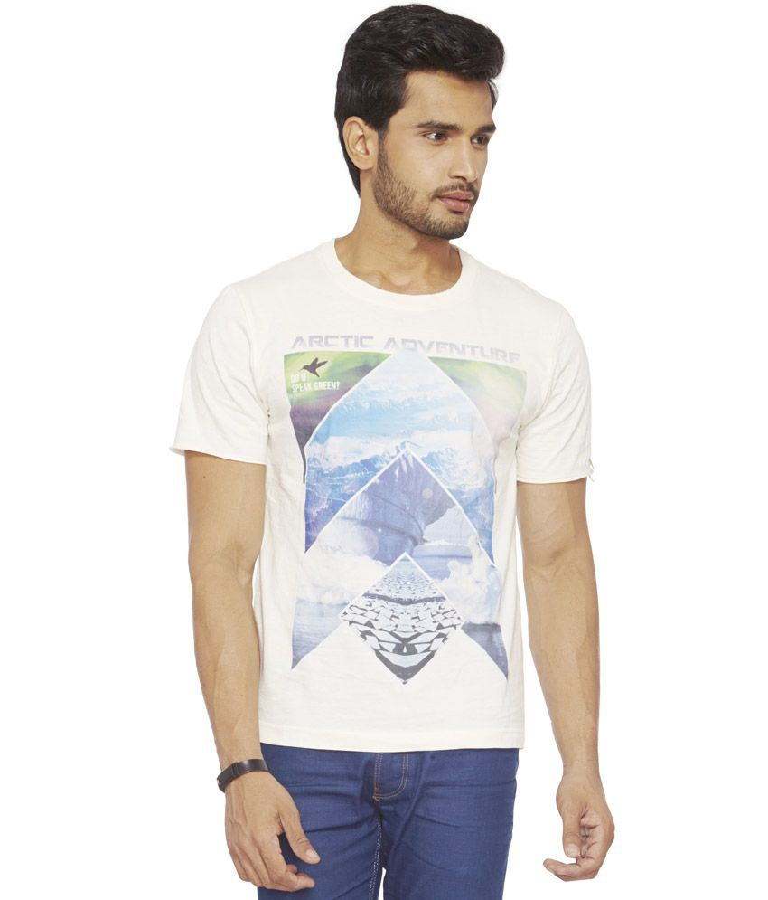 09c1e605a7a Do U Speak Green White Cotton Printed Half Sleeves T-shirt For Men - Buy Do  U Speak Green White Cotton Printed Half Sleeves T-shirt For Men Online at  Low ...