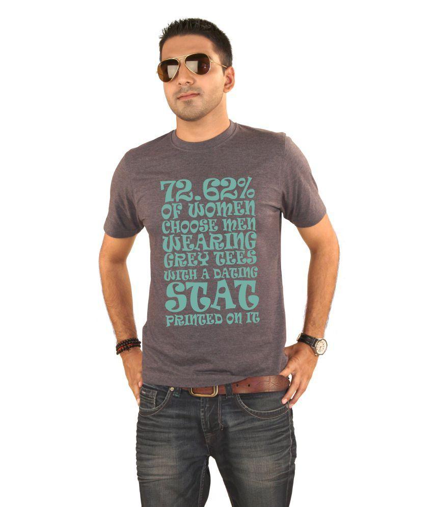 Hung Shoe Dating Stat Men's Grey T-shirt