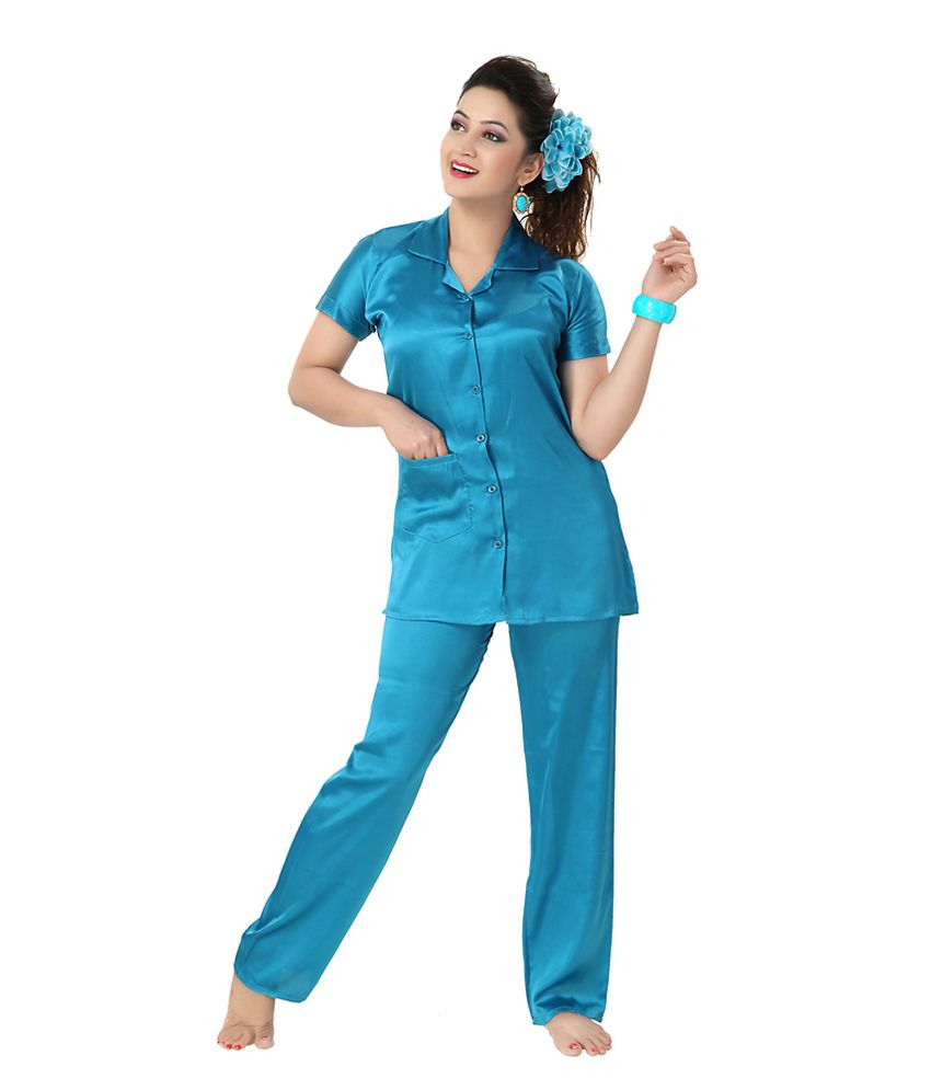 54d8c905a0 Buy Kuukee Plain Sartin Night Suit Online at Best Prices in India - Snapdeal