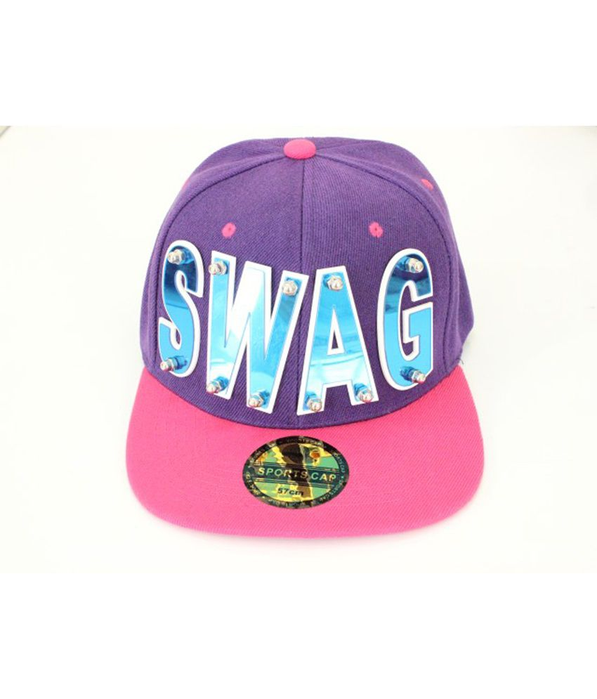 66e09110958 Takeincart Swag 3d Snapback And Hiphop Cap - Purple And Pink - Buy Online    Rs.