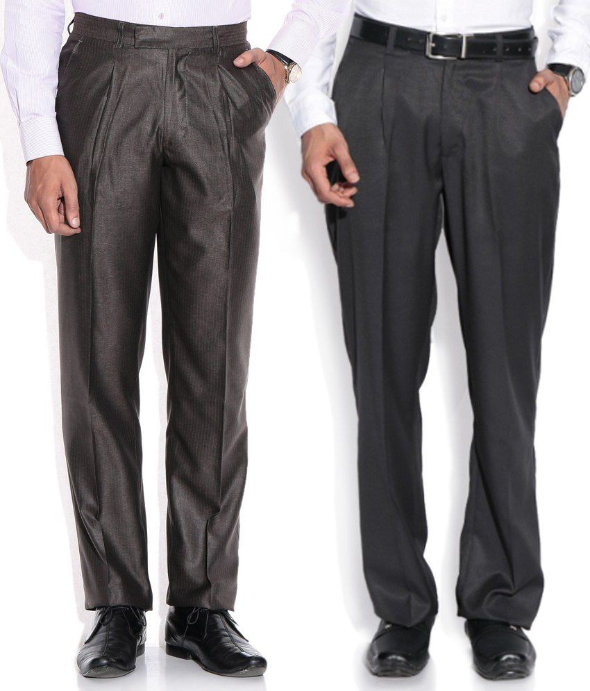 Aumentare Black Regular Formals Combo Of 2