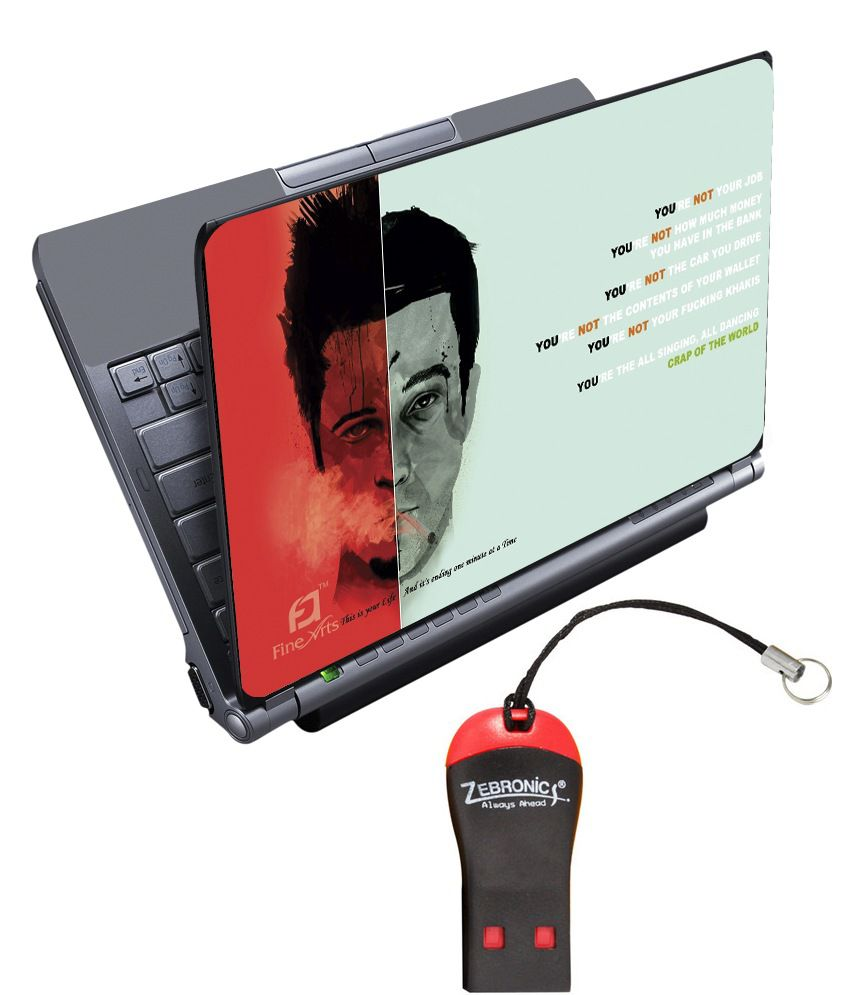 Finearts Textured Laptop Skin With Card Reader - Fight Club Printed