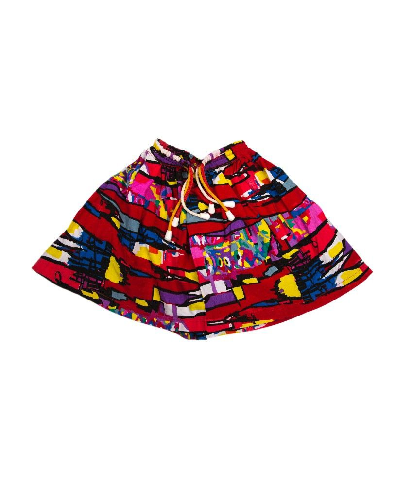 Ufo Purple Printed Skirt For Kids