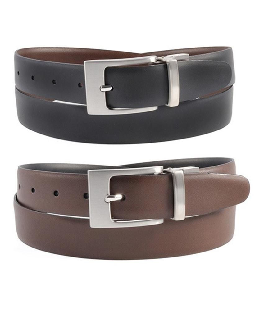 Kalon Black-brown Reversible Formal Belt For Men