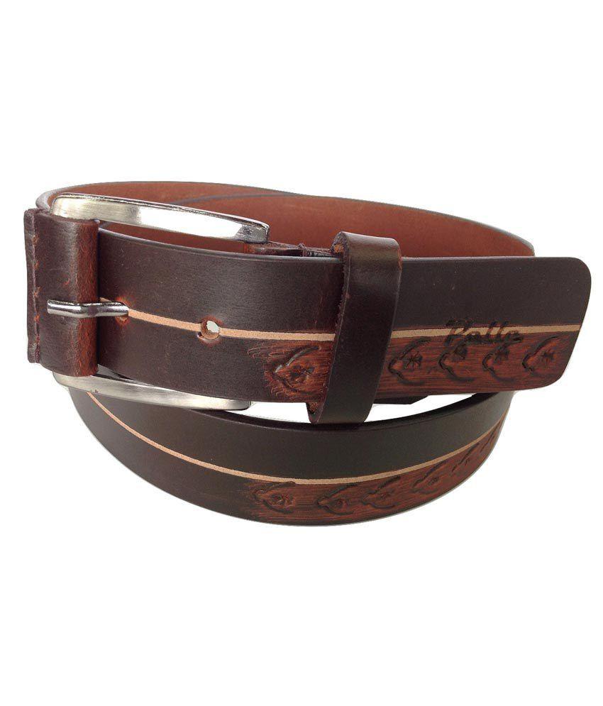Pelle Leather Oil Pullup Designer Brown Belt