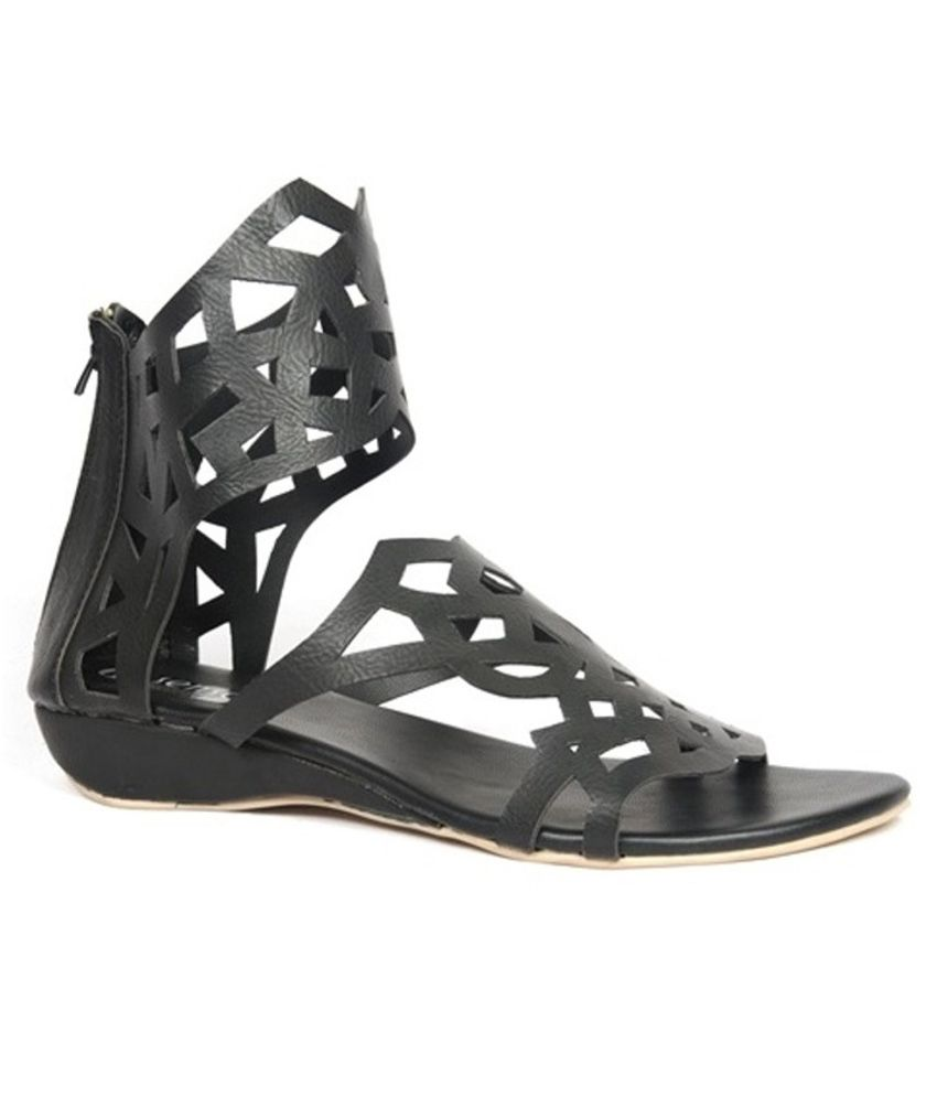 Senso Vegetarian Shoes Black Sandal
