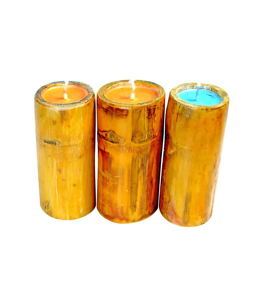 smeet candles 3 bamboo candle holders buy smeet candles 3 bamboo candle holders at best price. Black Bedroom Furniture Sets. Home Design Ideas