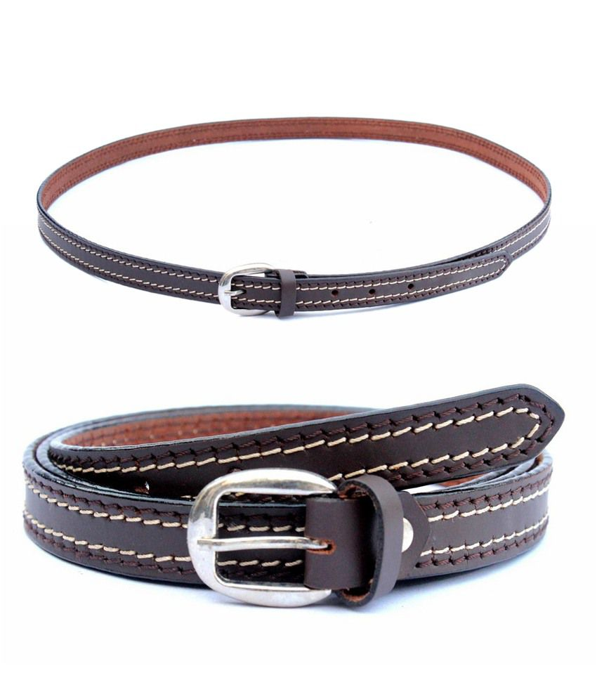 Tops Brown Casual Single Belt ForMen