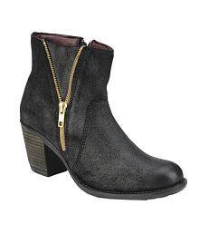 Delize Black Block Boots