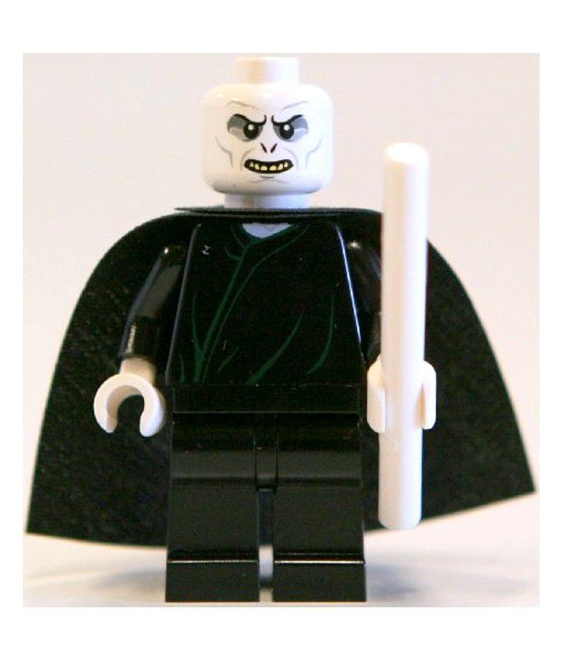 lego harry potter lord voldemort with white wand minifigure rh snapdeal com