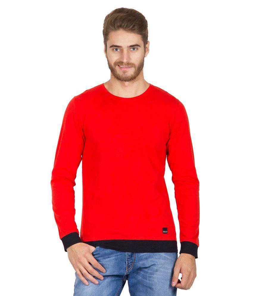 Rigo Red Cotton T-shirt
