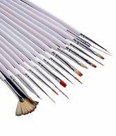 La Demoiselle Nail Art Tip Brush Tool Set 16 Pcs With Free Gift Glitter Powder