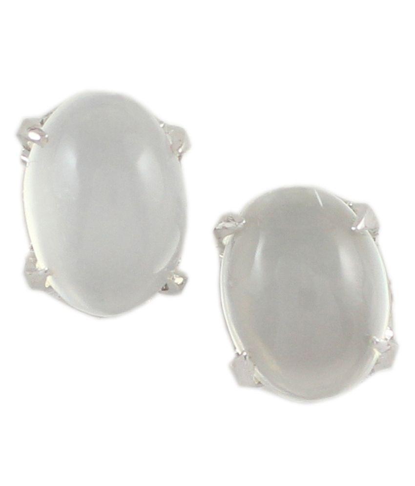 925 Silver Moonstone Stud Silver Earrings