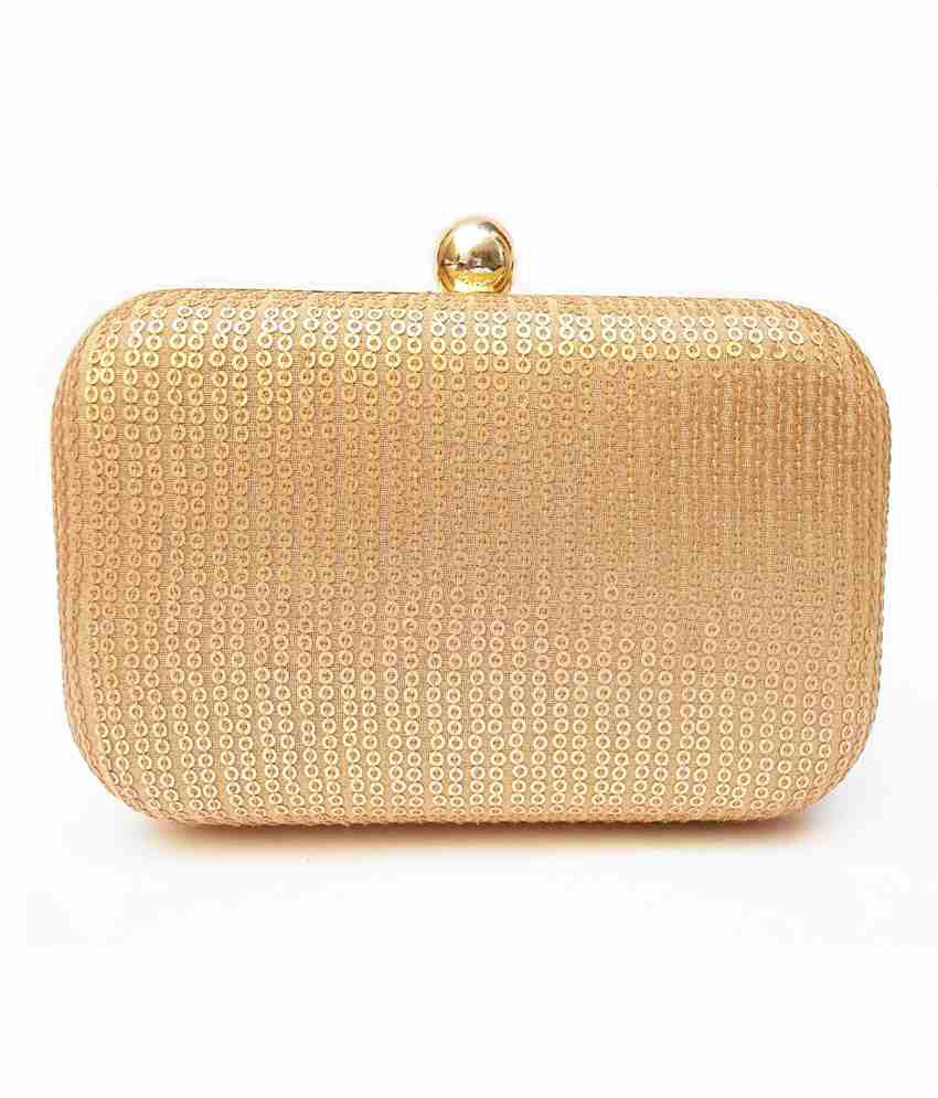 Ahs Crafts Gold Golden Sequance Clutch