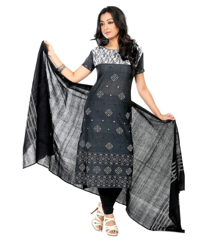 5b5fbe5d67 Fashion Handloom Black Cotton Unstitched Dress Material - Buy Fashion  Handloom Black Cotton Unstitched Dress Material Online at Best Prices in  India on ...