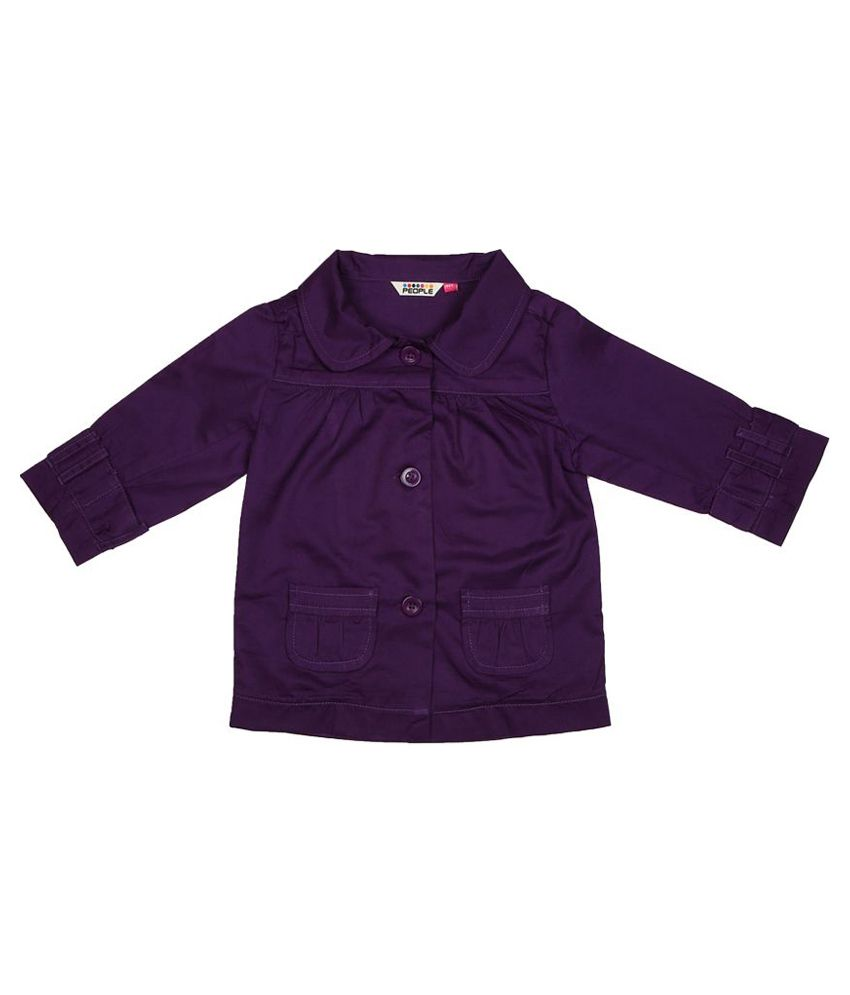 People Peter Pan Collared Twill Jacket