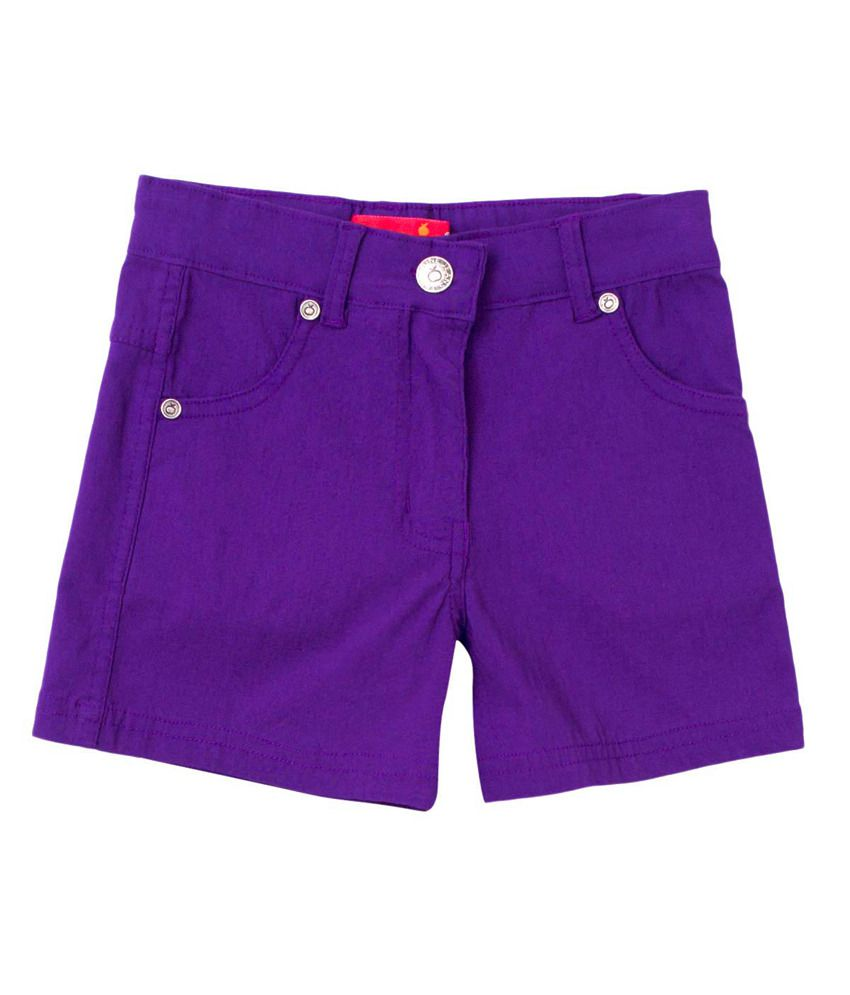 Tangerine Purple Cotton Purply Shorts