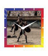 Moneysaver Amazon Fight Classic Wooden Wall Clock