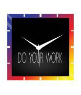 Moneysaver Work Quotes Classic Wooden Wall Clock