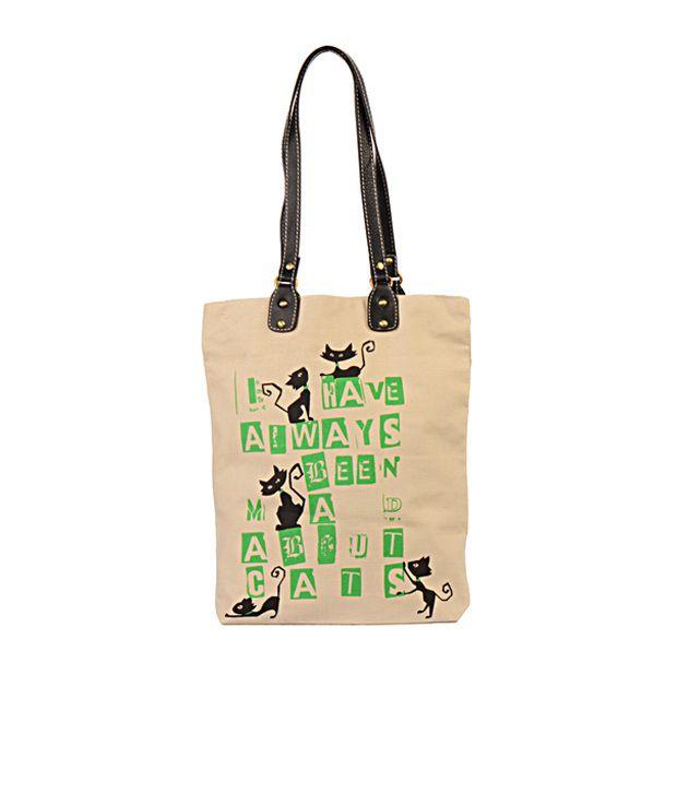 Greenobag Cat Gray Canvas Cloth Tote Bag