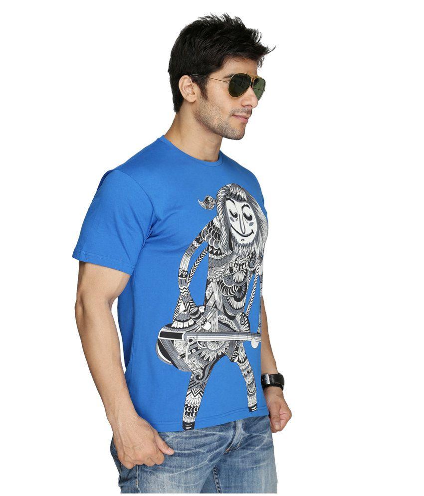 Imagica Blue Cotton T-shirt