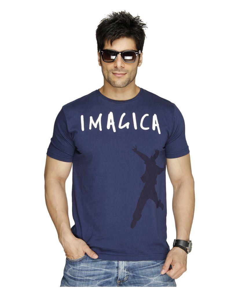 Imagica Navy Cotton T-shirt