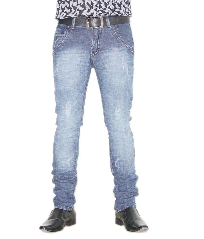 Cuboid Blue Regular Fit Jeans