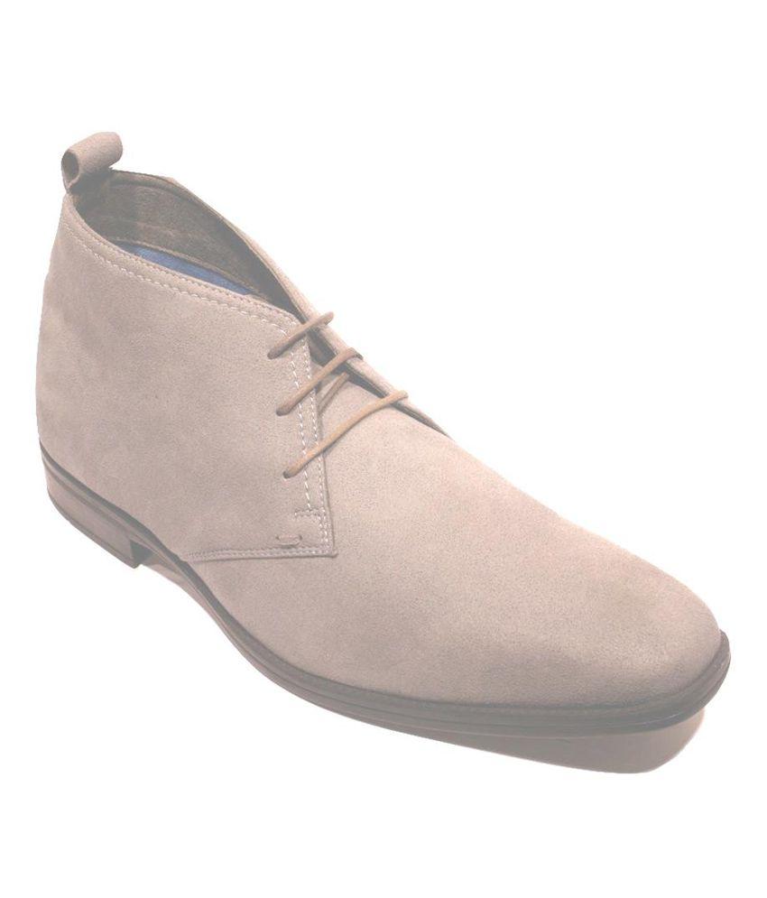 Ethik Men's Grey Suede Casual Shoes