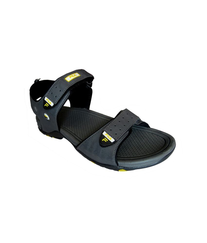 f5ee5a09aac1 Fila Stylish Gray And Yellow Sandal For Men - Buy Fila Stylish Gray And  Yellow Sandal For Men Online at Best Prices in India on Snapdeal