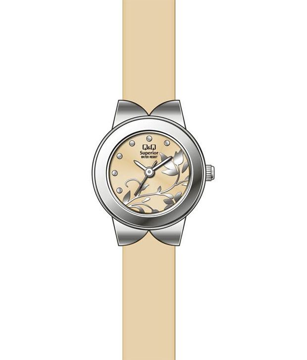 Q&q Yellow Analog Watch For Women