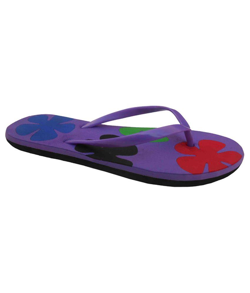 Unispeed Purple Rubber Flip Flop
