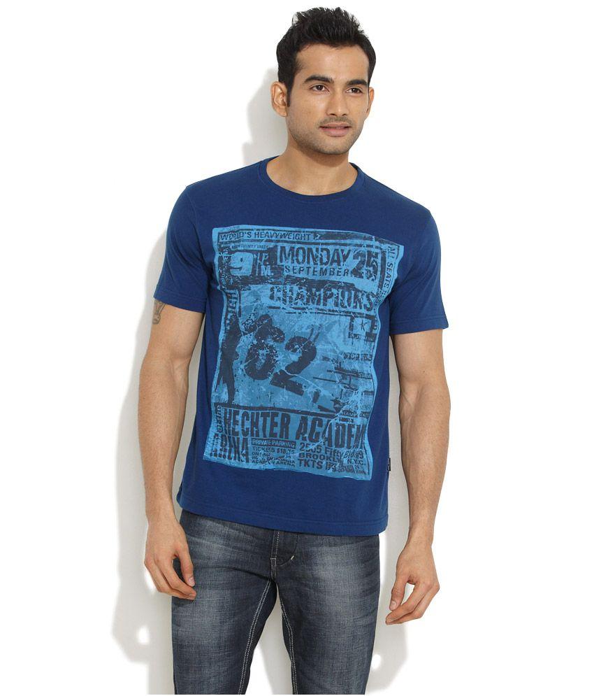 Daniel Hechter Dark Blue Hechter Academy Grunge T-Shirt