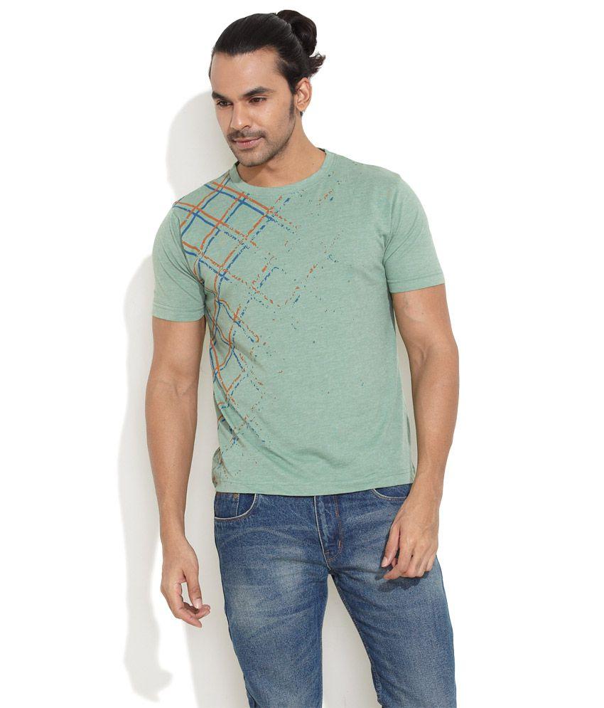 Rattrap Dark Green Fine Distressed T-Shirt