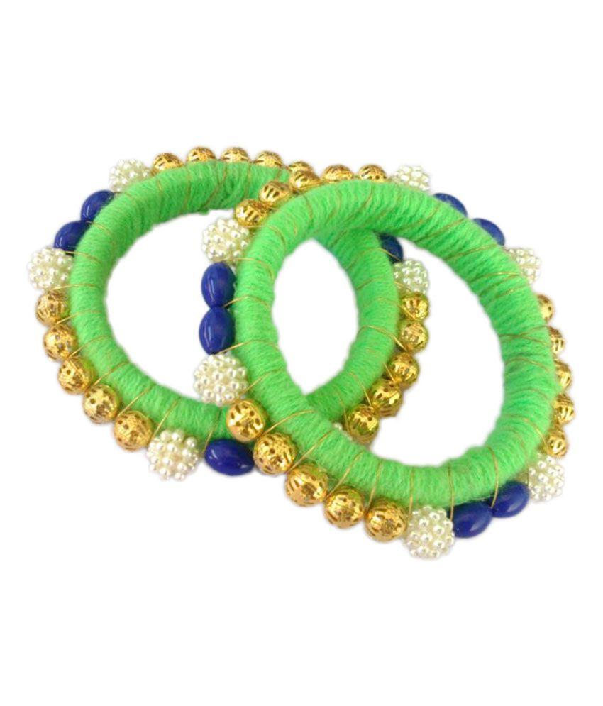 Drs Handmade Green And Blue Bangle