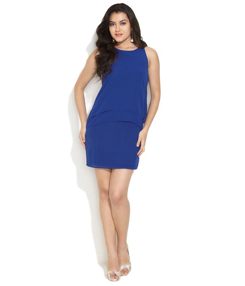 Femella Dark Blue Flatter Femme Dress